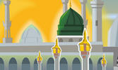 Les enfants dans la Mosquée du Prophète